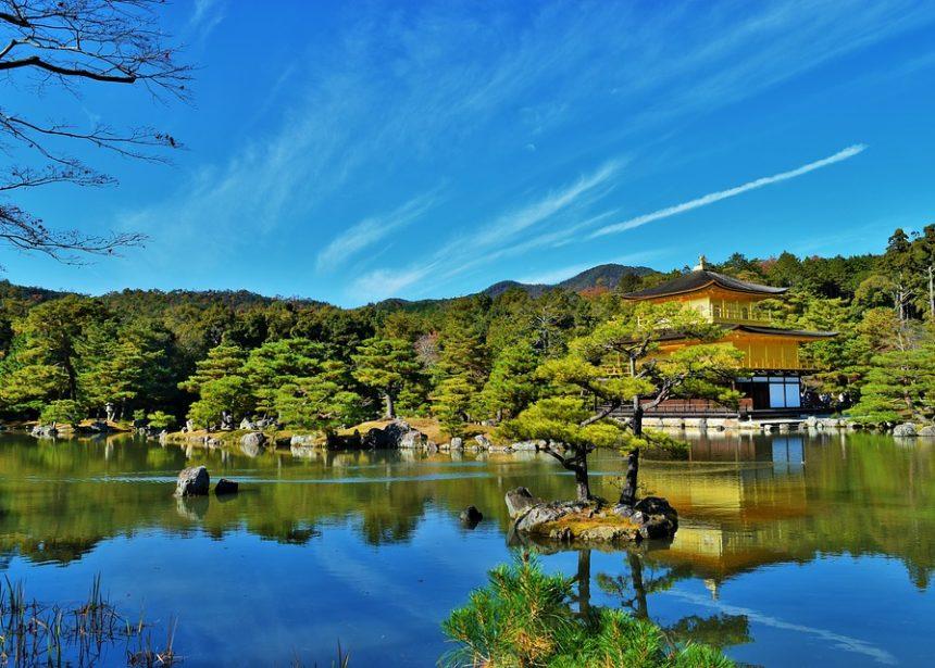 京都の金閣寺の写真